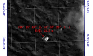 Chinese satellite image of object in southern Indian Ocean that could be MH370 wreckage