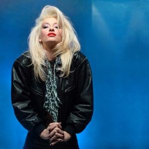 Mick Rock recreates his most famous Debbie Harry shot with artist, Danielle Parente
