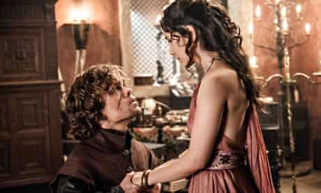 Peter Dinklage and Sibel Kekilli in Game of Thrones