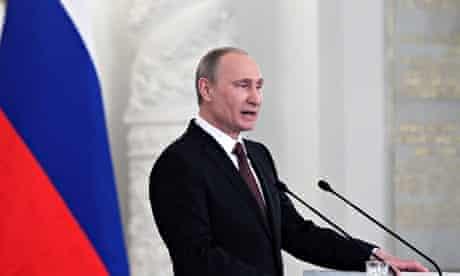 Vladimir Putin Signs Crimea Annex Treaty