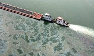 texas barge oil leak