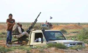 Armed vehicles belonging to military council of Ibrahim Jathran, Libya
