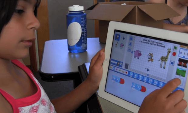 The ScratchJr iPad app has raised more than $40k on Kickstarter so far.