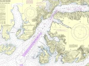 NOAA Nautical Chart of Prince William Sound-Port Fidalgo and Valdez Arm; Tatitlek Narrows. T