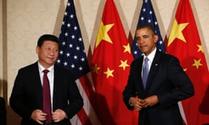 US President Barack Obama meets China's President Xi Jinping on the sidelines of a nuclear security summit in The Hague.
