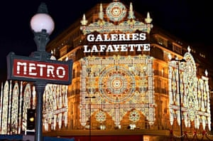 Galeries Lafayette with Christmas decorations
