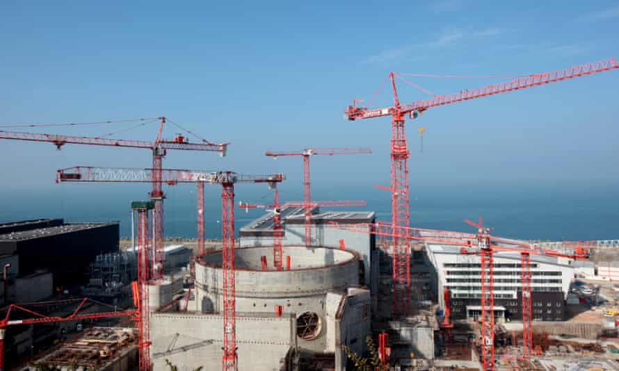 The construction site of the third-generation European Pressurised Water nuclear reactor (EPR) in the French northwestern city of Flamanville.