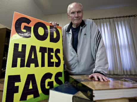 Fred Phelps … 'Homosexuality was an obsession.'