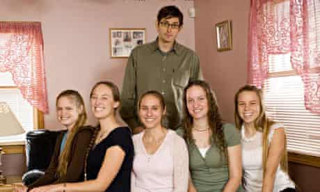 Louis Theroux with members of the Phelps family during the making of his first documentary.