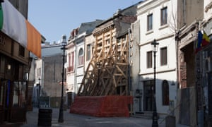Some of Bucharest's older buildings have stood empty for years and remain dangerous structures which could easily fall on those passing by