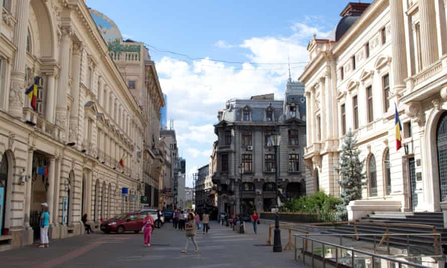 Buildings in Bucharest's Old Town. Seismology expert Dan Lungu says it is impossible to predict when the next big earthquake will strike