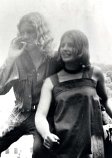'A field of their own': Ed Vulliamy and friend Haly in 1973.