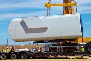 Corporate green energy: Microsoft Keechi wind farm installation in Texas