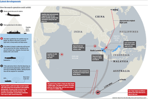 Latest developments on the MH370 crash.