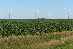 Corporate green energy: Google wind farm in Iowa