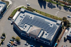 Corporate green energy: Staples' solar power array in Vacavilla, California