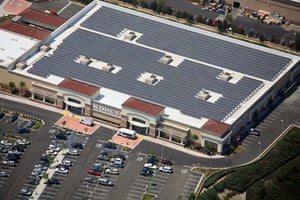 Solar panels on a Kohl's store in Laguna Niguel, California