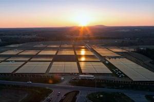 A solar farm Apple built in North Carolina