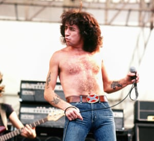 Bon Scott fronts an AC/DC gig in Hollywood, August 1979.