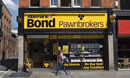 Albemarle bond pawnbrokers in Hammersmith, west London.