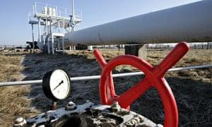 A gas pipeline near Kiev