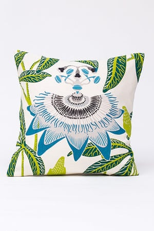 Homes - Wishlist: green and blue patterned cushion