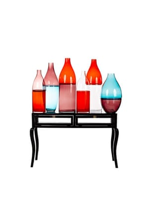 Homes - Wishlist: selection of red and blue glass vases