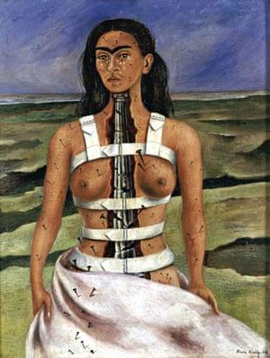 Frida Kahlo's The Broken Column  (1944)