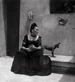 Frida Kahlo by Lola Álvarez Bravo, c1944.