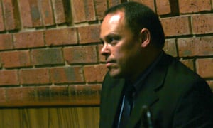 South African detective Hilton Botha pictured at a bail hearing for Oscar Pistorius on 21 February 2013.