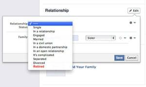 Relationship status: retired