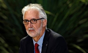 UCI newly elected president Brian Cookson attends a news conference in Florence