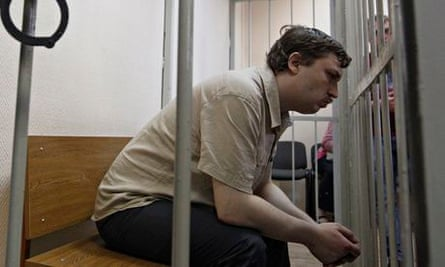 Mikhail Kosenko during a court hearing in May 2013