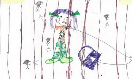 A drawing by a child detained on Christmas Island.