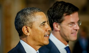 Barack Obama and Mark Rutte, the Dutch prime minister, during the president's visit to the Netherlands.