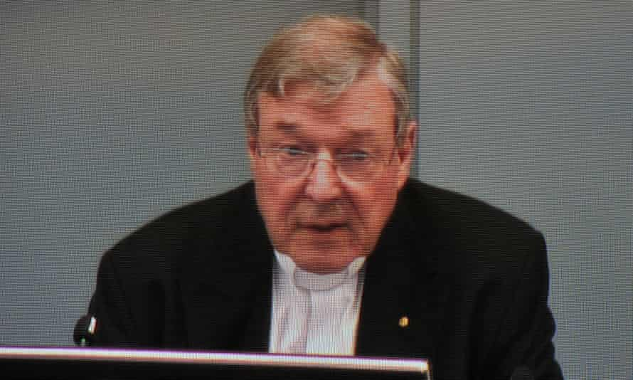 George Pell gives evidence.