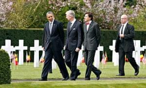 Obama visits Flanders Field cemetery