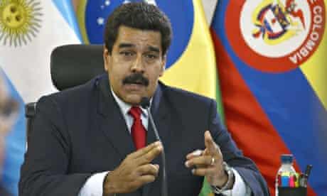 Venezuelan President Nicolas Maduro spea