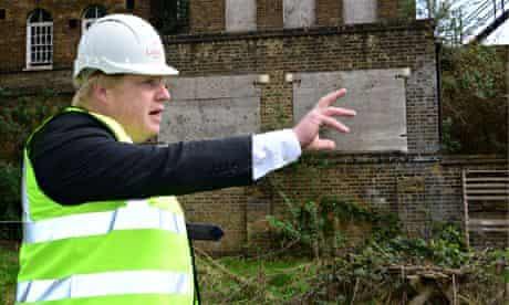 Boris Johnson at St Clements Hospital, Tower Hamlets