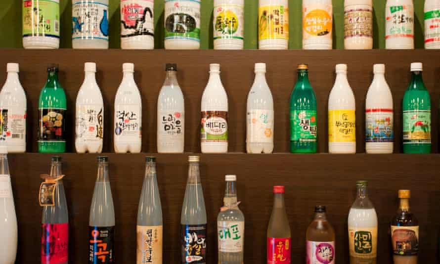 Bottles of makkeolli