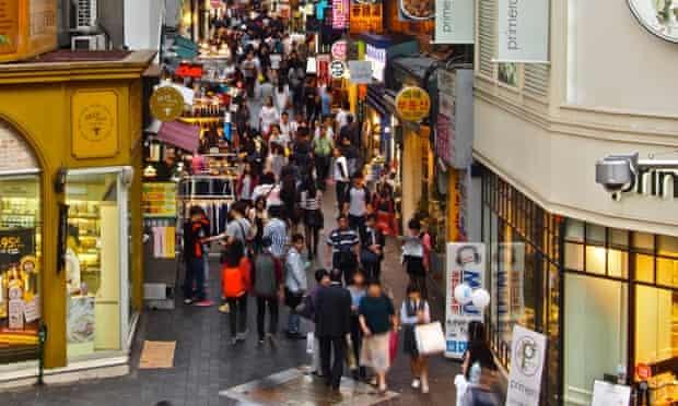 Myeongdong, Seoul's main shopping district