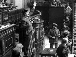 The attempted coup in Spanish parliament on 23 february 1981
