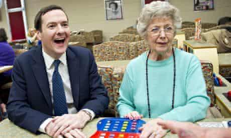 Chancellor George Osborne at Castle Bingo Cardiff
