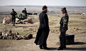 Ukrainian troops near Donetsk