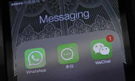 WhatsApp icon on smartphone