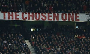 A banner at Old Trafford