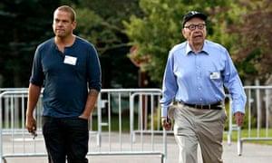 Rupert Murdoch with his eldest son, Lachlan