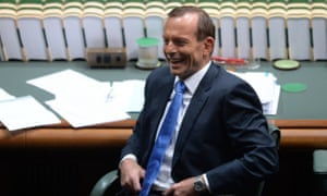 Prime Minister Tony Abbott reacts during House of Representatives Question Time at Parliament House in Canberra, Thursday, March 27, 2014.