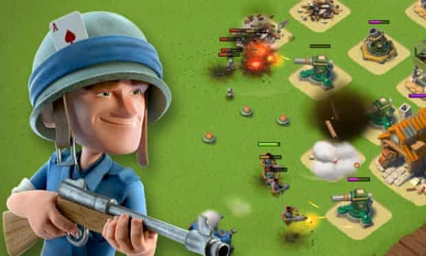 Boom Beach is similar to Clash of Clans, but with a military theme.