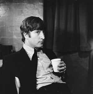 Jane Bown: John Lennon with cup 1963